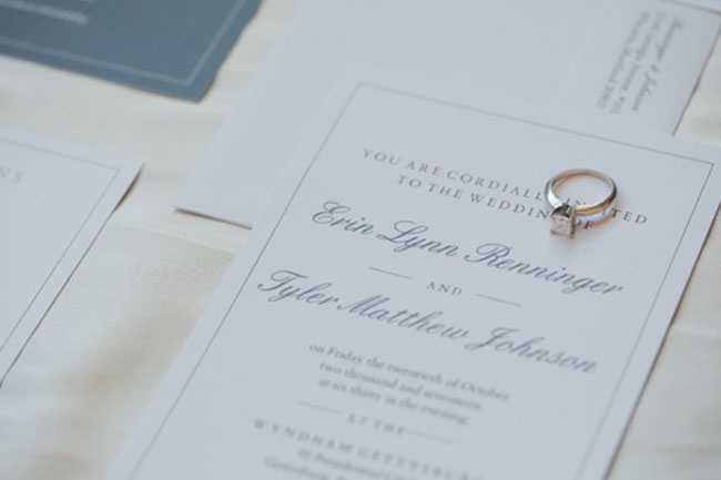 Wedding Invitation with Ring - Photography by Maria Silva-Goya